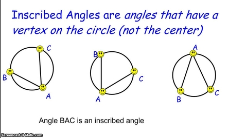 Thumbnail for entry Inscribed Angles