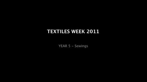 Thumbnail for entry TEXTILES WEEK
