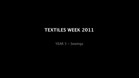 Thumbnail for entry TEXTILES WEEK