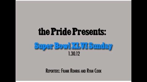 Thumbnail for entry Pre Superbowl