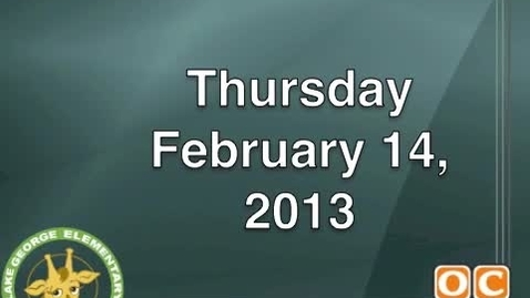 Thumbnail for entry February 14, 2013