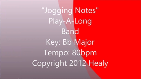 Thumbnail for entry Jogging Notes Play Along - Band