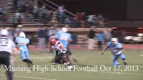 Thumbnail for entry Mustang High School Football Incredible Play