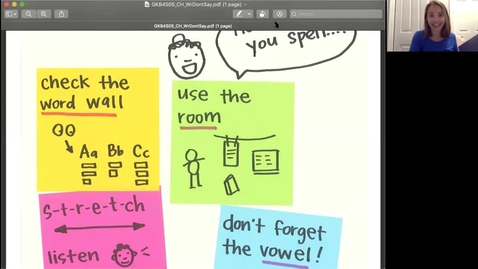 Thumbnail for entry Writers Use Strategies to Solve Hard Words Week of 6/1