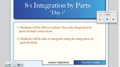 Thumbnail for entry 8-1 Integration by Parts