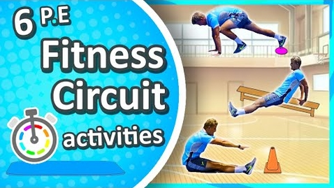 Thumbnail for entry 6 Physical Education Fitness Circuit activities | Grades K-8
