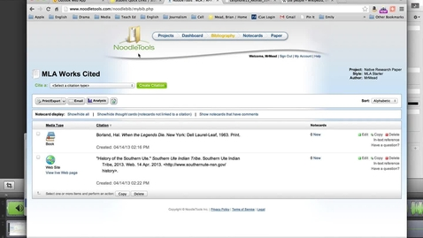 Thumbnail for entry Cite Wikipedia using NoodleTools