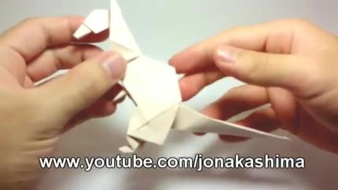 Thumbnail for entry Origami kangaroo - Canguru de origami