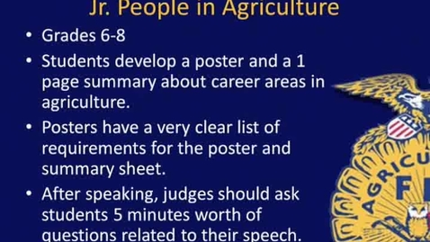 Thumbnail for entry Overview of Jr. People in Agriculture