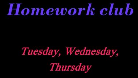 Thumbnail for entry Homework Club 2