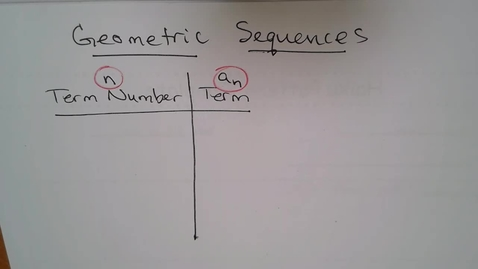 Thumbnail for entry Adv Mth BD E06 (TSW 8) Geometric Sequences