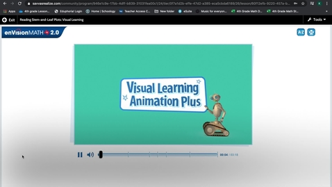 Thumbnail for entry Pearson Reading Stem and Leaf Plots