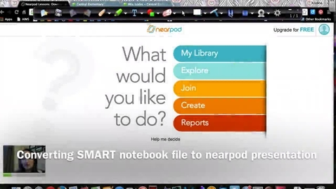 Thumbnail for entry Converting SMART Notebook files to images for use in Nearpod