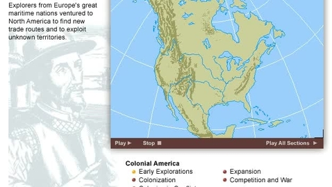 Thumbnail for entry History of the Colonization of America  Map