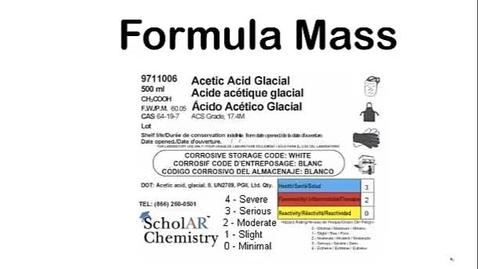 Thumbnail for entry Formula Mass