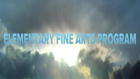 Thumbnail for entry 2014 Elementary Art Fair Promotional Video