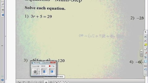 Thumbnail for entry Multi-Step equations