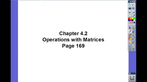 Thumbnail for entry Algebra II Ch 4.2