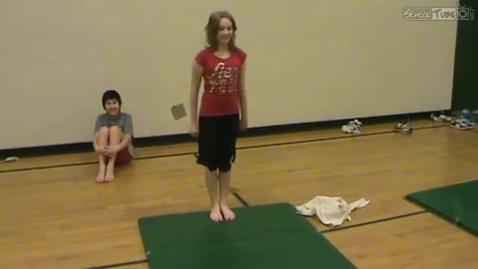 Thumbnail for entry Tessa gymnastics routine