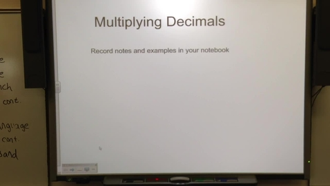 Thumbnail for entry Multiplying Decimals