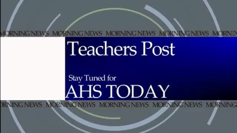 Thumbnail for entry January 30, 2012 AHS Today
