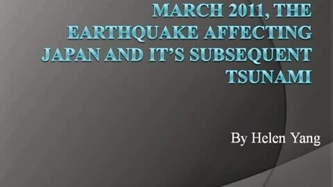 Thumbnail for entry March 2011 Japan's earthquake/tsuanami