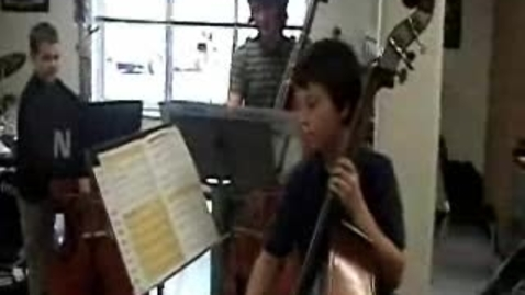 Thumbnail for entry Bassists and Cellists performing Cripple Creek