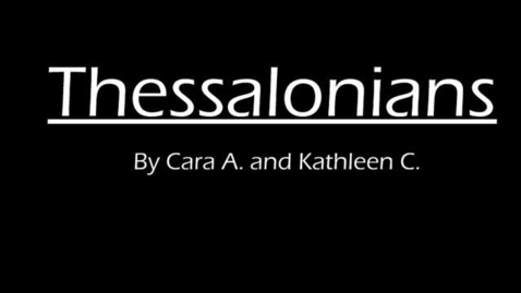 Thumbnail for entry Thessalonians