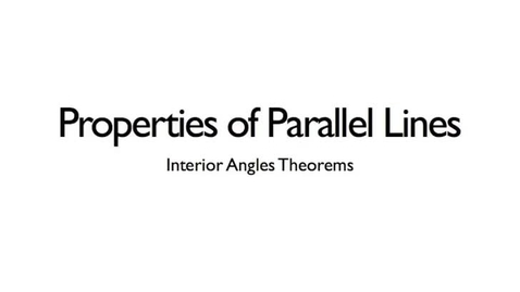 Thumbnail for entry Interior Angles Theorems