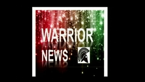 Thumbnail for entry Warrior News Broadcast #4 10.9.2013
