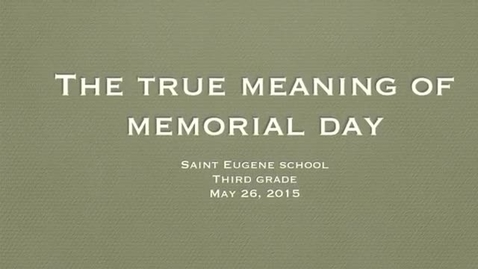 Thumbnail for entry The True Meaning of Memorial Day