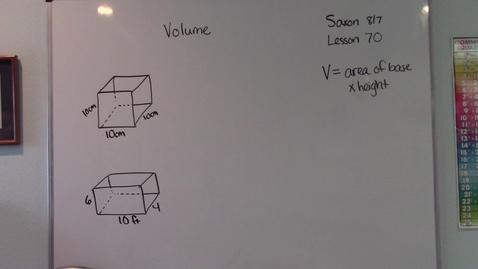 Thumbnail for entry Saxon 8/7 - Lesson 70 - Volume