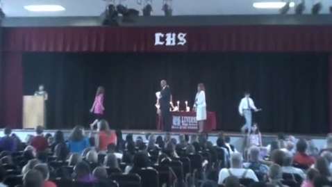 Thumbnail for entry Elementary Induction Ceremony Luverne Elementary 2013