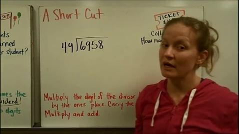 Thumbnail for entry Two Digit Divisors Short Cut