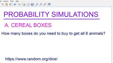 Thumbnail for entry probability simulations