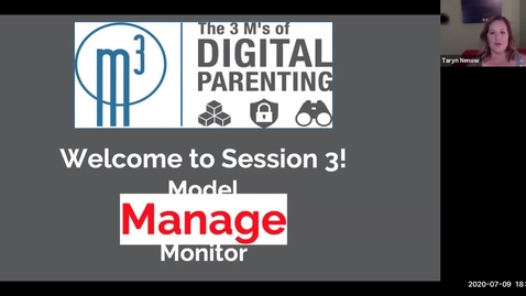 Thumbnail for entry Digital Parenting 3M's - Session 3_ Manage
