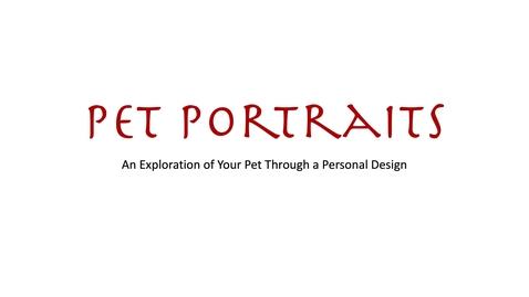 Thumbnail for entry Pet Portraits. Part 1