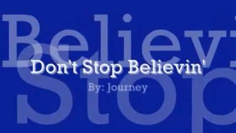 Thumbnail for entry Don't Stop Believin' - Journey - Lyrics