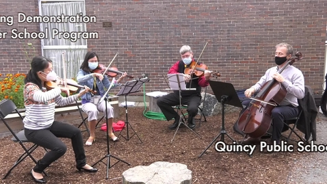 Thumbnail for entry Quincy Public Schools String Demonstration 2021