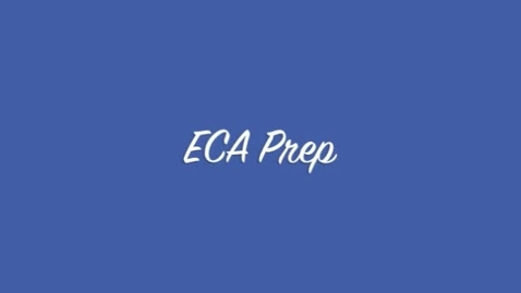 Thumbnail for entry ECA Prep - Review Packet #1