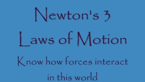 Thumbnail for entry Newton's laws of Motion