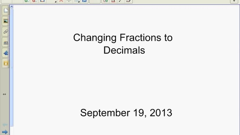 Thumbnail for entry Fractions to Decimals