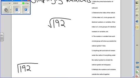 Thumbnail for entry Simplifying radicals example 3