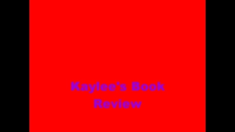 Thumbnail for entry 13-14 Linville Kaylee's Book Review