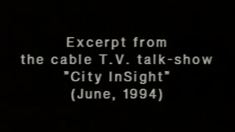"""Thumbnail for entry (1994) NEWS REPORT - KWN on """"City InSight"""" from Bronx Cable Access TV"""