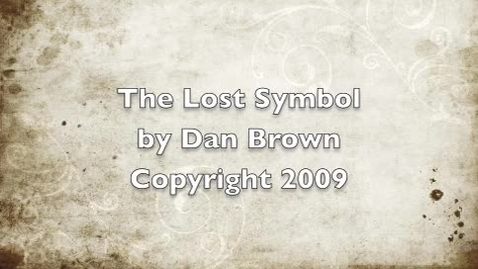 Thumbnail for entry The Lost Symbol Book Trailer