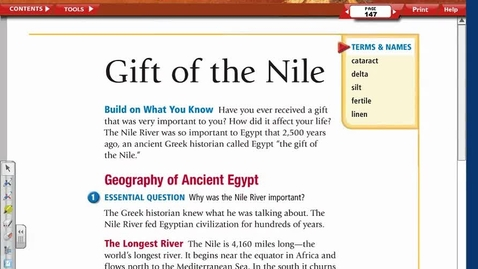Thumbnail for entry Ancient Egypt Lesson 1 Reading