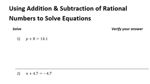 Thumbnail for entry 1-7 Using Rational Operations to Solve Equations