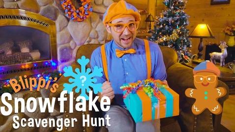Thumbnail for entry Blippi's Holiday Movie - Christmas Scavenger Hunt for Kids