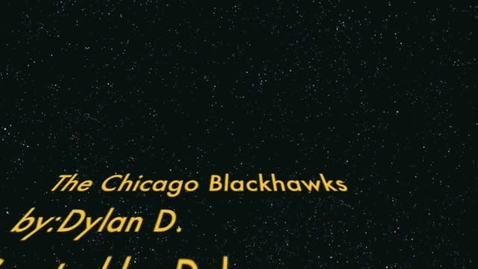 Thumbnail for entry DylanD Chicago Blackhawks Movie